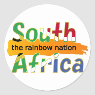 South Africa: the rainbow nation Round Sticker