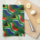 South Africa Waving Flag Kitchen Towel