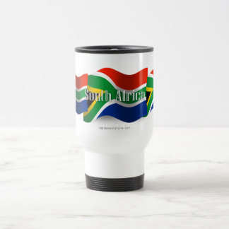South Africa Waving Flag Travel Mug