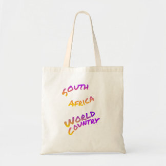South Africa world country, colorful text art