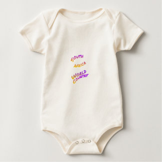 South Africa world country, colorful text art Baby Bodysuit