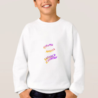 South Africa world country, colorful text art Sweatshirt