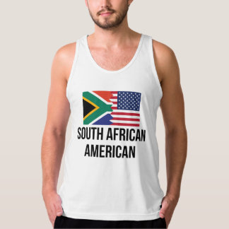 South African American Flag Tank Top