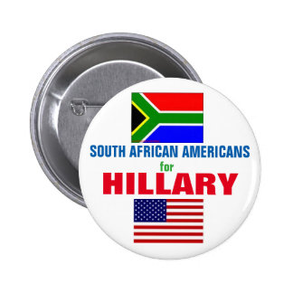 South African Americans for Hillary 2016 2 Inch Round Button