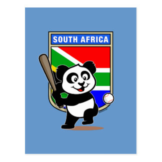 South African Baseball Panda Postcard