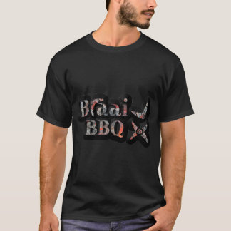 South African Braai / BBQ, Red Coals/Black T-Shirt
