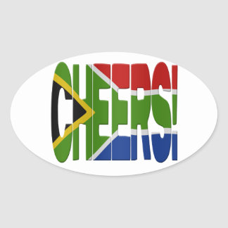 South African cheers Oval Sticker