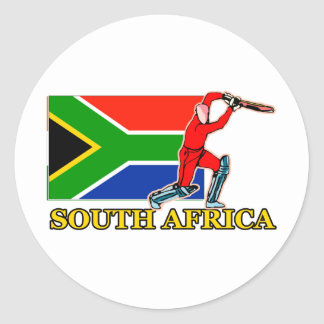 South African Cricket Player Classic Round Sticker