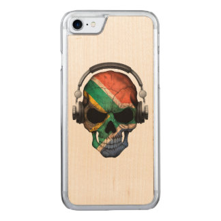 South African Dj Skull andHeadphones Carved iPhone 8/7 Case
