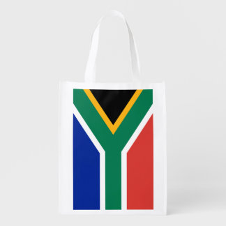 South African flag grocery shopping bag
