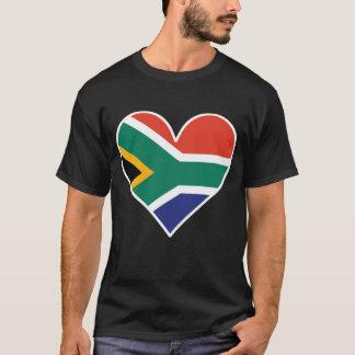 South African Flag Heart T-Shirt