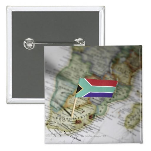 South African flag in map Pins