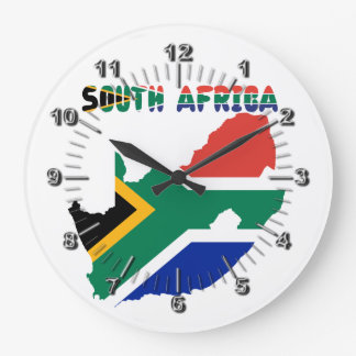 South African flag Large Clock
