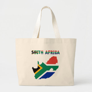 South African flag Large Tote Bag