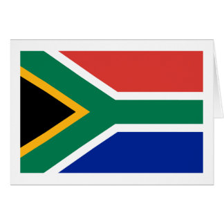 South African flag note cards