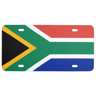 South African Flag of South Africa License Plate