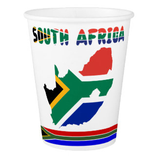 South African flag Paper Cup