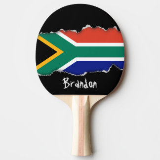 South African Flag Ping-Pong Paddle