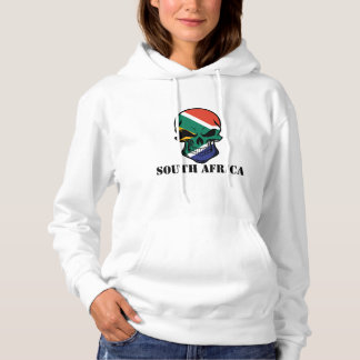 South African Flag Skull South Africa Hoodie
