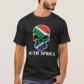South African Flag Skull South Africa T-Shirt