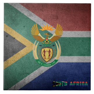 South African flag Tile