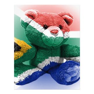 South African Flag wrapped Teddy Bear Letterhead