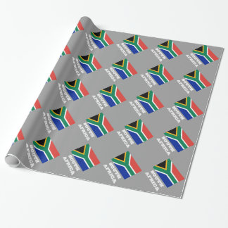South African flag wrapping paper design