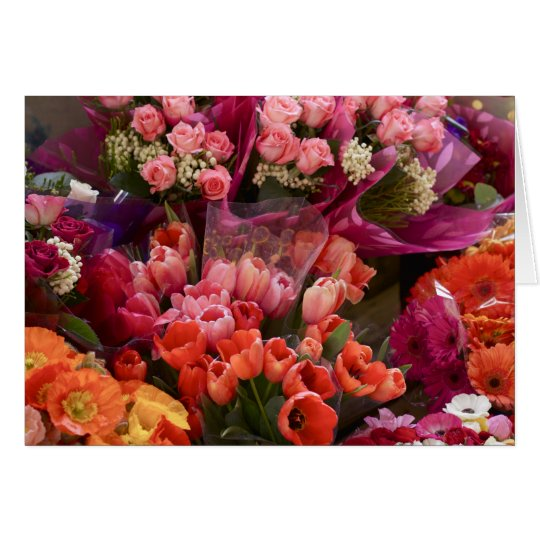 South African Flower Market Card