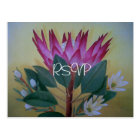 South African Giant Protea Wedding RSVP with Photo Postcard