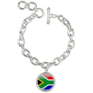 South African glossy flag Bracelets