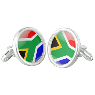 South African glossy flag Cufflinks