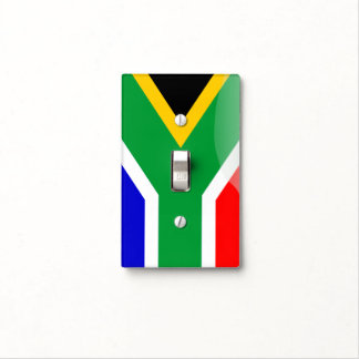 South African glossy flag Light Switch Cover
