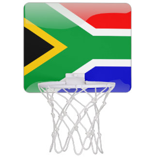 South African glossy flag Mini Basketball Hoop