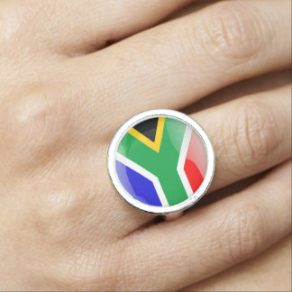 South African glossy flag Rings