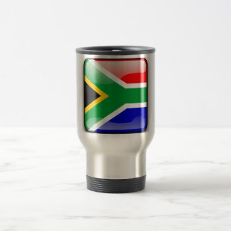 South African glossy flag Travel Mug