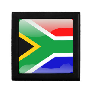 South African glossy flag Trinket Boxes