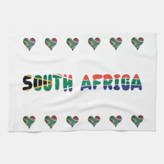 South African heart Kitchen Towel