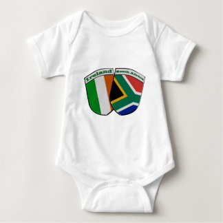 South African & Irish Flag Friendship Badges Baby Bodysuit