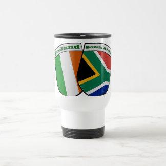 South African & Irish Flag Friendship Badges Travel Mug