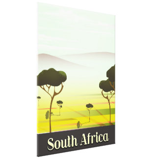 South African landscape evening travel poster Canvas Print
