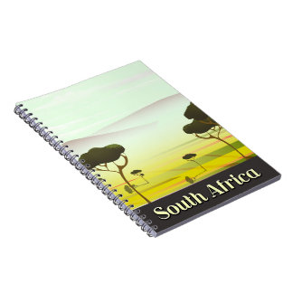 South African landscape evening travel poster Notebook