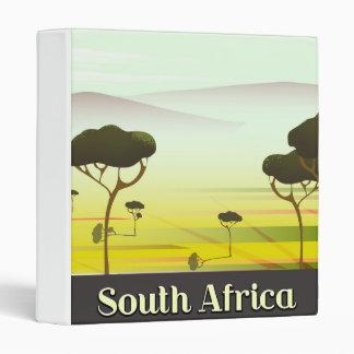 South African landscape evening travel poster Vinyl Binder