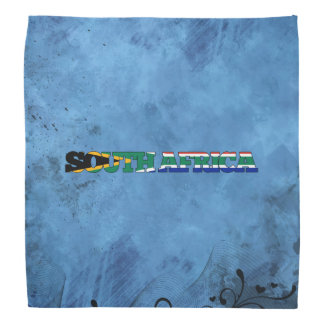 South African name and flag on cool wall Bandana