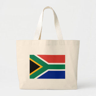 South African National Flag Large Tote Bag