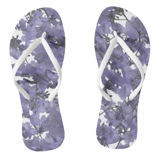 South African Purple Jacaranda Flowers Flip Flops