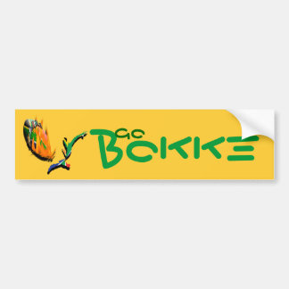 """South African rugby supporters """"Go Bokke"""" stickers Bumper Sticker"""