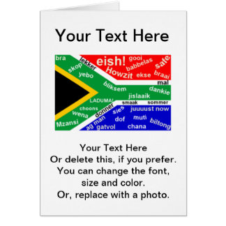 South African Slang Greeting Card - Customizable