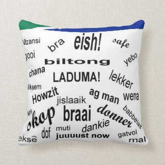 South African Slang Throw Pillow