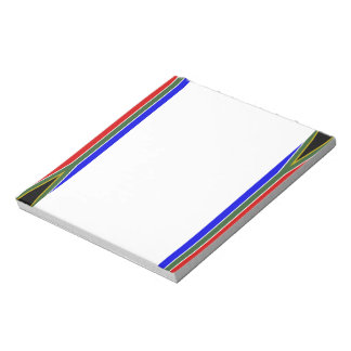 South African stripes flag Notepad