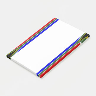 South African stripes flag Post-it Notes